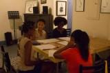 Wynnie Lamour teaching her class for the Haitian Diaspora