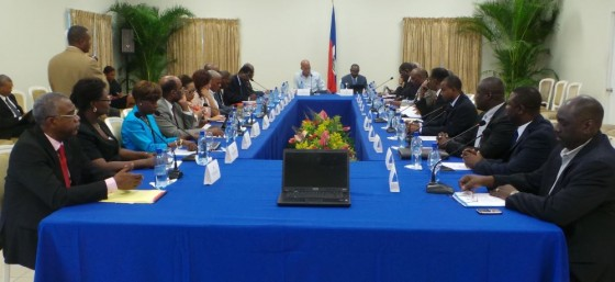 First Cabinet meeting of new government at National Palace.
