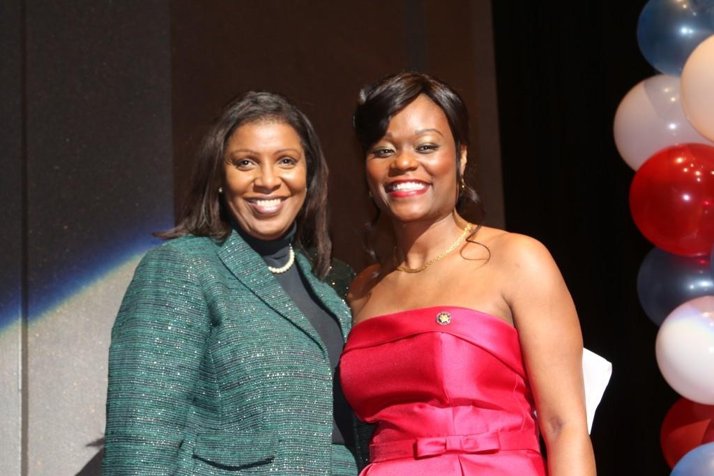 Public Advocate Letitia James and Assemblywoman Rodneyse Bichotte