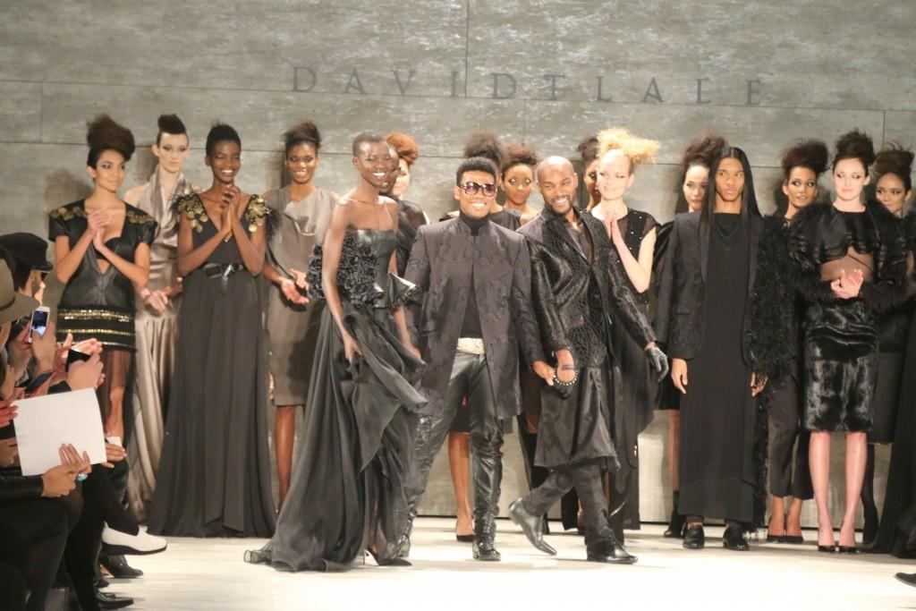 Designer David Tlale (center)