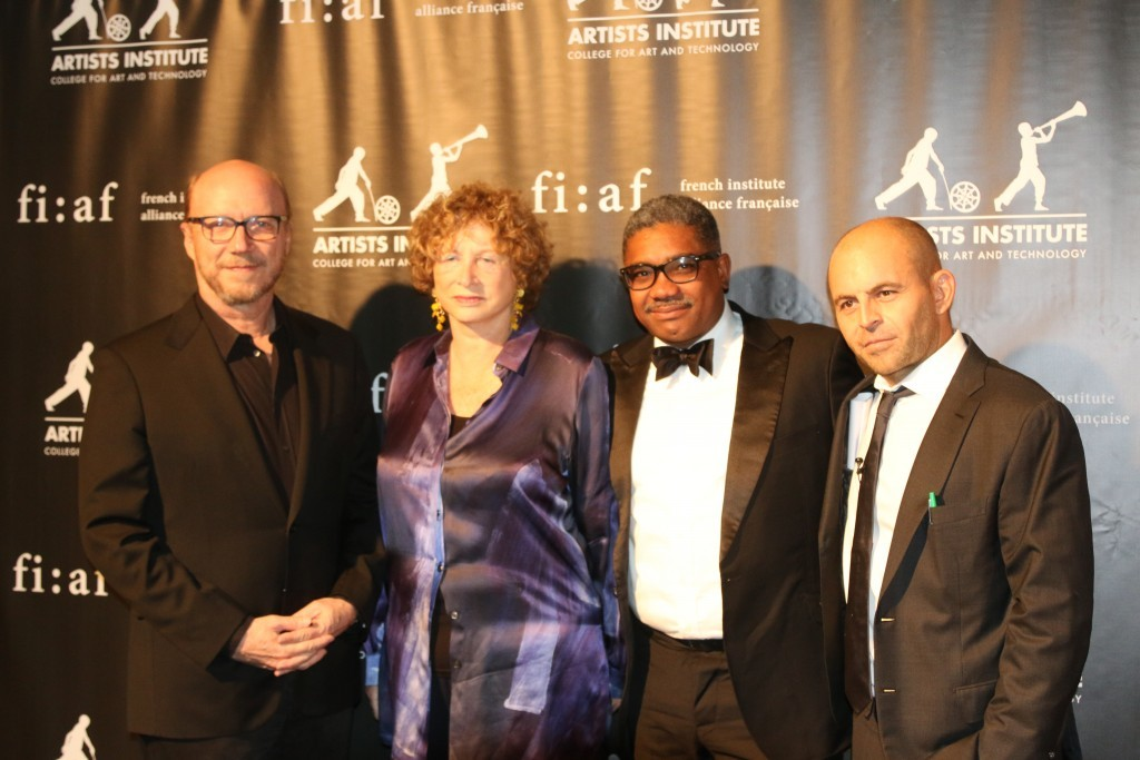 (Left to right) Oscar-winning director Paul Haggis,  FIAF President Marie-Monique Steckel, Fashion Photographer Marc Baptiste, Cine Institute Founder David Belle