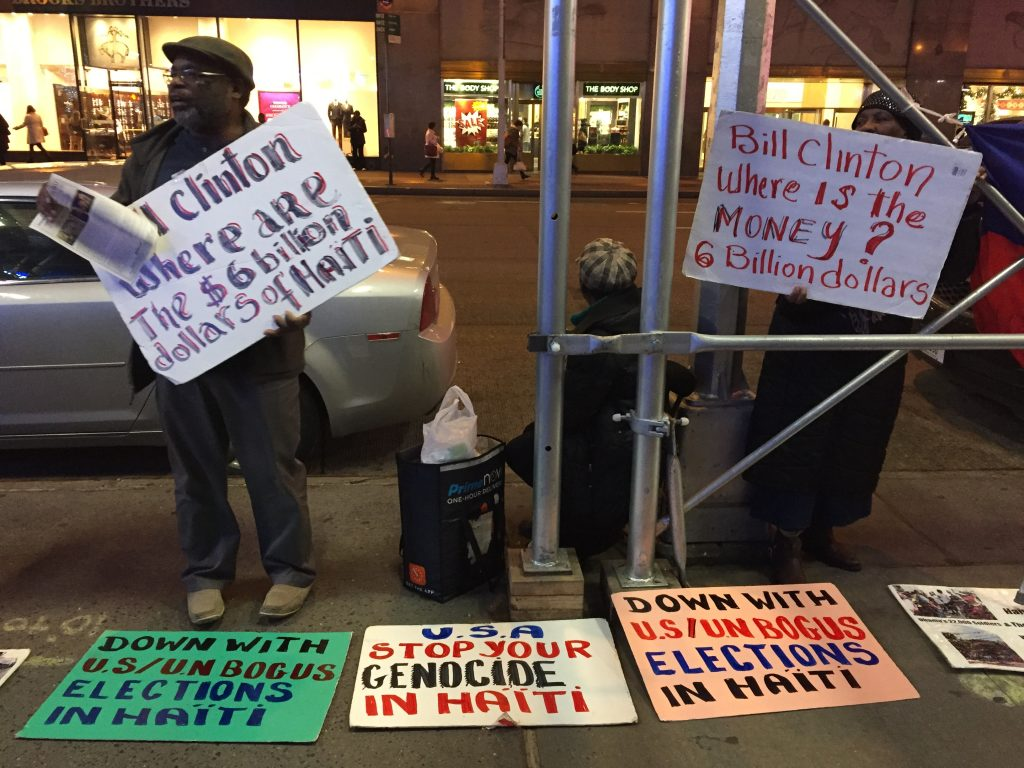 Protesters Demand Clinton Foundation to Shut Down on Anniversary of Haiti Earthquake