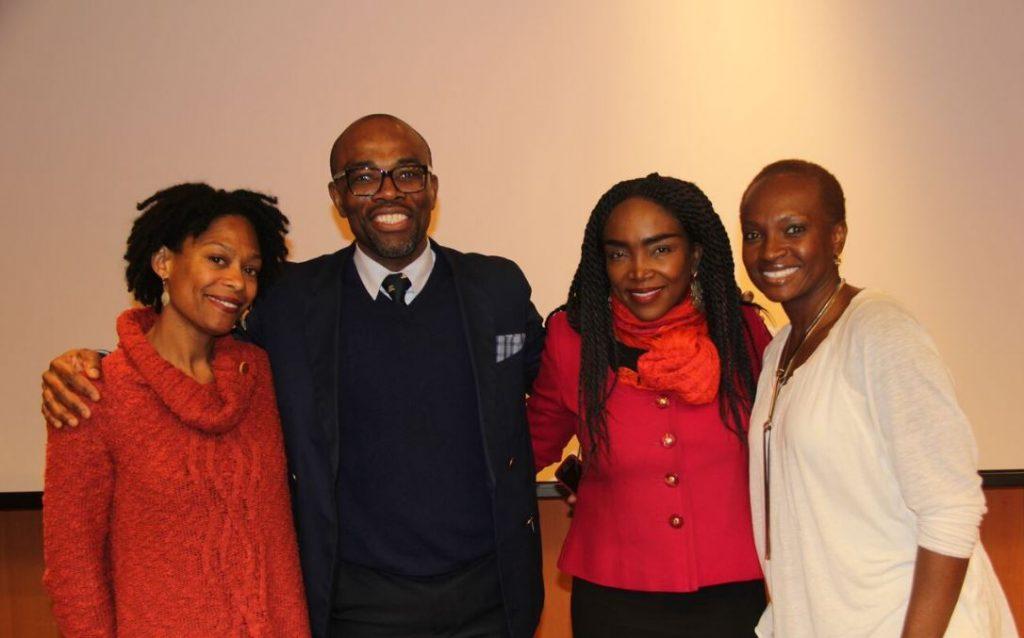 (L-R) Regine Roumain, Dr Jean Eddy Saint Paul, Emeline Michel, Cassandre Thrasybule