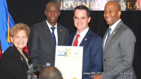 New York State Senator David Carlucci honors Haitian president Jovenel Moise