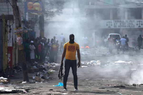 protests haiti government