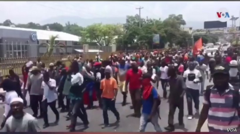 Haiti Anti-Corruption Protesters Demand US Stop Supporting President Moise
