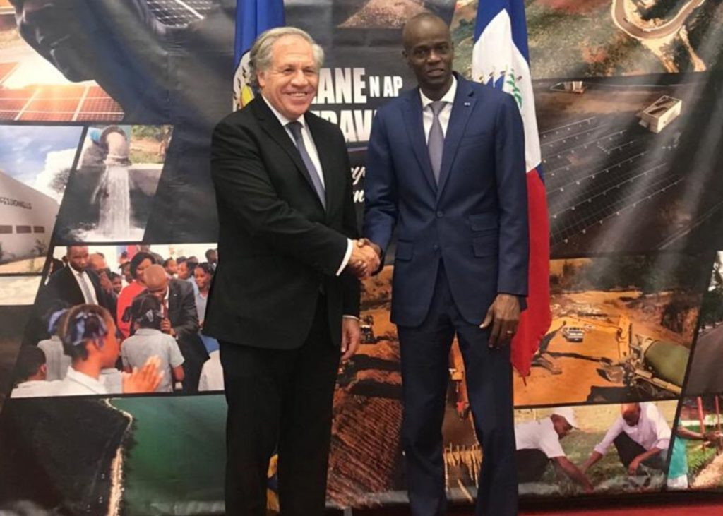 Haiti President and Officials Meet with OAS Secretary General