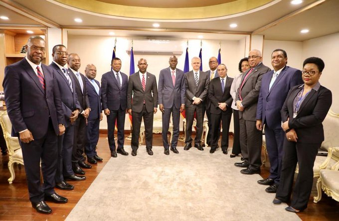 President Jovenel Moïse meets with the Professional Association of Banks
