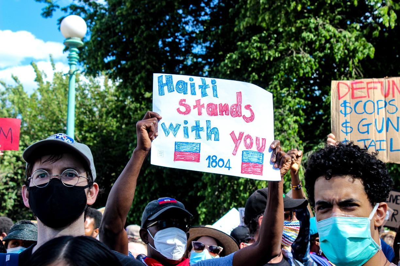 george floyd protest haitian times