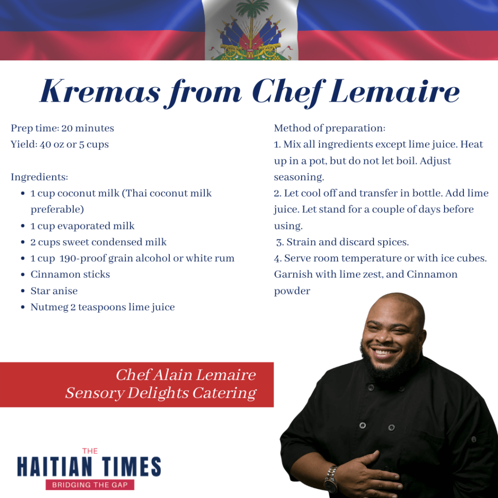 Haitian kremas, chef lemaire