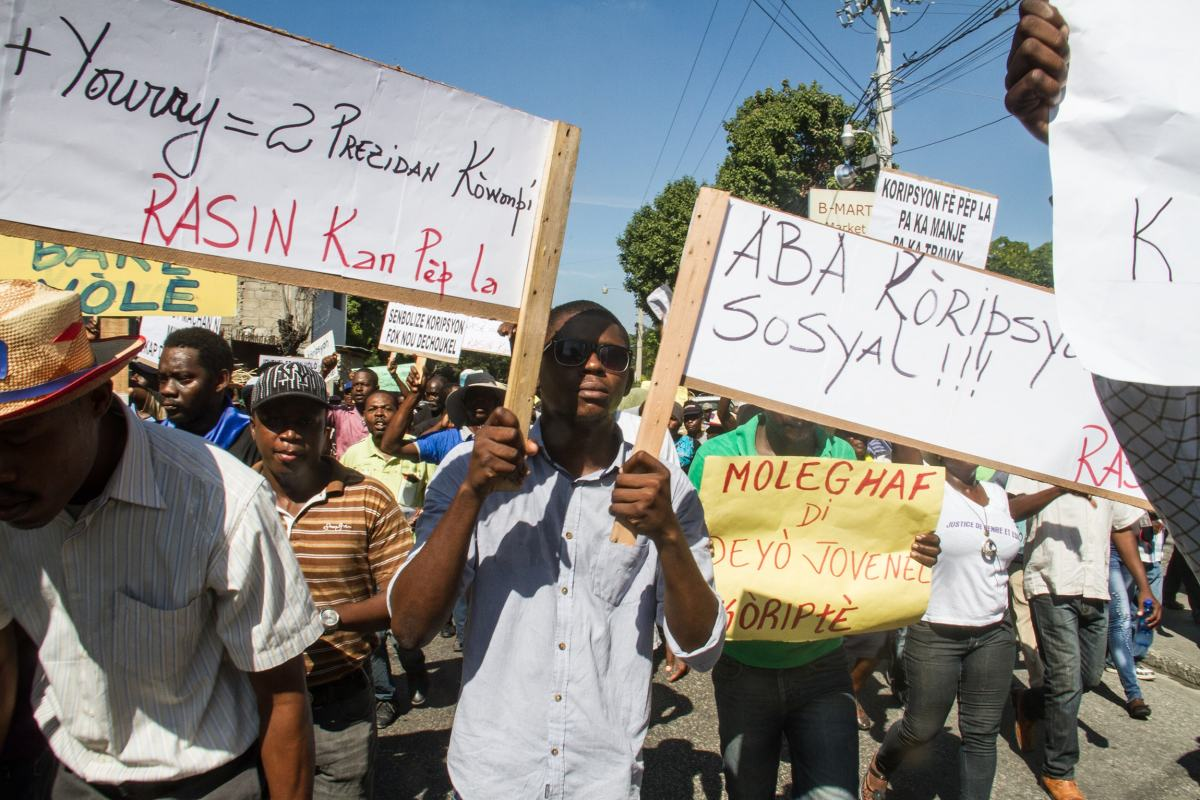 haiti anti corruption protest